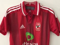 b46022d09 Sale Vintage EUC Adidas Al Ahly Home Soccer Jersey by casualisme Football  Shirts