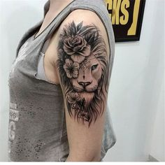 53 Cool Animal Tattoo Ideas - Chicbetter Inspiration for Modern Women 53 Cool Animal Tattoo Ideas - chic better Animal Tattoos For Women, Tiny Tattoos For Women, Tattoos For Women Half Sleeve, Shoulder Tattoos For Women, Tattoos For Guys, Arm Tattoos For Women Upper, Geometric Tattoo Shoulder, Lion Shoulder Tattoo, Geometric Tattoos Men