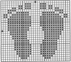needlepoint of heart design Crochet Cord, Filet Crochet, Needlepoint Patterns, Afghan Crochet Patterns, Cross Stitch Designs, Cross Stitch Patterns, Cross Stitching, Cross Stitch Embroidery, Bib Pattern