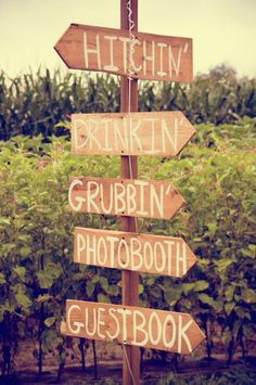 wedding sign post
