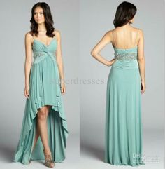 Wholesale Evening Dresses - Buy 2014 Sexy Long Prom Dresses Mint Green Embellished Spaghetti Strap High-low Evening Gowns Prom Dress, $119.9... Long Dresses, Prom Dresses, Formal Dresses, Wedding Mint Green, Models, Buy Dress, High Low, Evening Dresses, Spaghetti