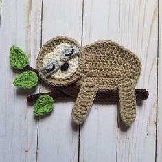 Jungle Venture Applique Pack Crochet Pattern Only Monkey Crochet Sloth, Crochet Faces, Knit Or Crochet, Irish Crochet, Crochet Motif, Crochet For Kids, Crochet Animals, Crochet Flowers, Crochet Stitches