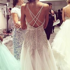 Today is the 1st day of a @misshayleypaige trunk show! We'll have her new collection & other #HayleyPaige gowns at #Kleinfeld through Sunday!  See more on our Snapchat: @kleinfeldbridal #trunkshow by kleinfeldbridal