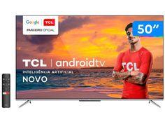 "Smart TV 4K UHD LED 50"" TCL 50P715 Android Wi-Fi - Bluetooth 3 HDMI 2 USB - Magazine Bicicletascia Tvs, Tv 50"", Wi Fi, Smart Tv 4k, Media Smart, Bluetooth, 4k Uhd, Smartphone, Apps"