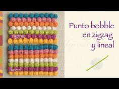 Punto garbanzo o bobble stitch a crochet en zigzag y en forma lineal! - YouTube