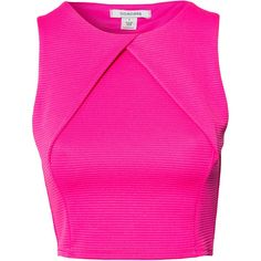Nly One Cross Front Rib Top (€20) ❤ liked on Polyvore featuring tops, crop tops, shirts, pink, womens-fashion, tall shirts, sleeveless tops, shirt tops, crop top and cut-out crop tops
