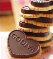 #GODIVA Dark Truffle Heart Biscuits