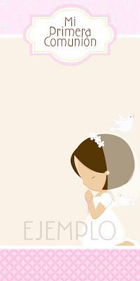 Moms-Angels: Tarjetas Primera Comunión para niña First Communion Favors, Première Communion, First Holy Communion, Baptism Cookies, Cupcake Toppers Free, Baptism Invitations, Printable Paper, Diy And Crafts, Clip Art