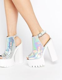 20 Trendy und Chic Plattform Schuhe # Classic Womens Lace Up Round Toe High Block Heels Pumps Oxford Court Shoes Dream Shoes, Crazy Shoes, Cute Shoes, Me Too Shoes, Holographic Fashion, Holographic Heels, Kawaii Shoes, Everyday Shoes, Beautiful Shoes