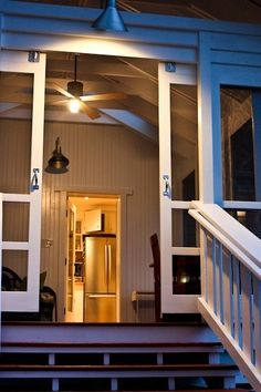 Sliding screened doors for the porch