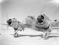 Bristol Beaufighter Mk IC T3314 'O' of No 272 Squadron RAF running up its engines at Idku Egypt