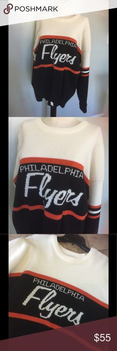 Vintage Philadelphia flyers Sweater/Org Tags Never worn/Org tags.Great condition.NHL official licensed product Vintage Sweaters Crewneck