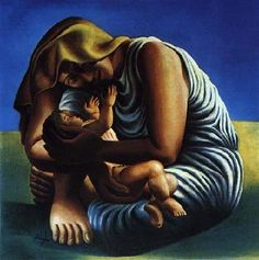 ← → Maternity Jose de Almada-Negreiros Date: 1935 Style: Art Deco Genre: genre painting