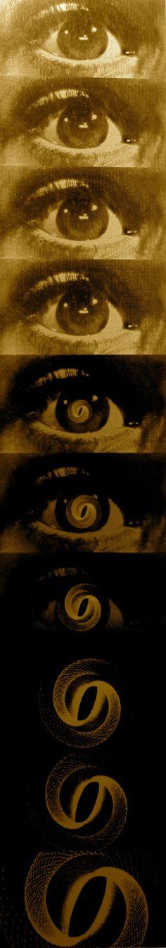 """Saul Bass. Title Sequence to """"Vertigo"""" (1958)"""