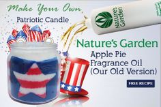Patriot Candle Recipe from Natures Garden.
