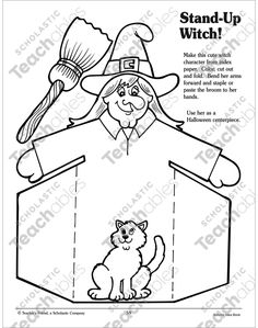 See inside image Easy Halloween, Halloween Crafts, Holiday Crafts, Halloween Decorations To Make, Halloween Themes, Witch Characters, October Art, Step Kids, Halloween Activities