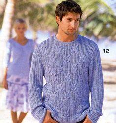 Мужской пуловер в классическом исполнении.