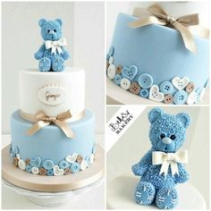17 Beautiful Baby Shower Cakes To Lust Over Baby Cakes, Pink Cakes, Gateau Baby Shower, Teddy Bear Cakes, Baby Shower Cakes For Boys, Simple Baby Shower Cakes, Cakes For Kids, Beautiful Baby Shower, Love Cake