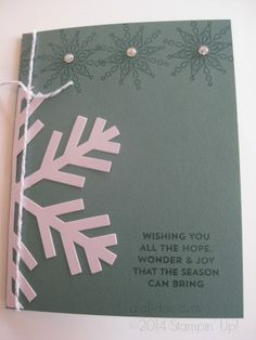 Simply Snowflake Paper Pumpkin Kit alternate idea adding Lost Lagoon cardstock #stampinup #paperpumpkin