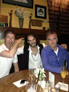 Noel Gallagher, Russell Brand, and Morrissey