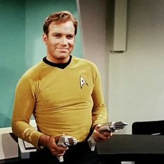 William Shatner as Captain James T Kirk in Star Trek the original series. Star Trek 1966, Star Trek Tv, Star Trek Series, Star Trek Original Series, Star Wars, Tv Series, Science Fiction, Star Trek Theme, James T Kirk