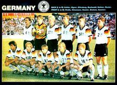 EQUIPOS DE FÚTBOL: SELECCIÓN DE ALEMANIA finalista de la Eurocopa 1992