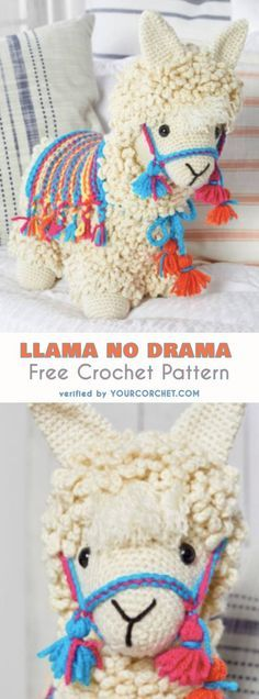 Llama No Drama Amigurumi Free Crochet Pattern | Your Crochet #freecrochetpatterns #amigurumi #amigurumipattern