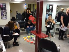 Colour theory class with James form Paul Mitchell.  www.experienceeducation.academy