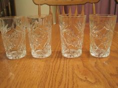 Vintage Star Of David 6 oz.Juice Glasses by NowandthenTreasures, $15.00