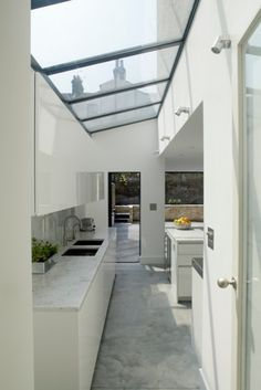 Find home projects from professionals for ideas & inspiration. Vauxhall House by TLA Studio Dirty Kitchen Design, Kitchen Room Design, Outdoor Kitchen Design, Home Room Design, Modern Kitchen Design, Home Decor Kitchen, Kitchen Interior, Home Interior Design, House Design