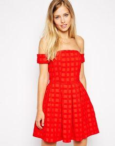 ASOS | ASOS Bardot Textured Prom Dress at ASOS