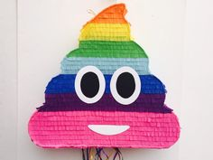 EMOJI POOP Rainbow PINATA, Poop Emoticon party, whatssap emoji party, Pull String Piñata de TRUSTITI en Etsy https://www.etsy.com/es/listing/524261741/emoji-poop-rainbow-pinata-poop-emoticon