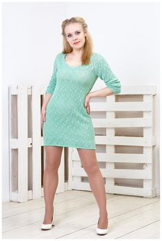 Knit dress knitted openwork dress Impulse of by GenuineWoolheart