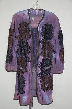 Gregory Parkinson Purple Lace Floral Jacket
