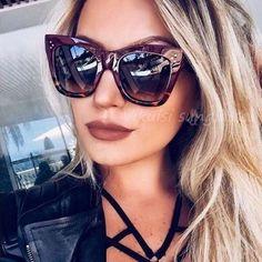 513d8d7b502 2018 Hot Cat Eye Celebrity Kim Kardashian Sunglasses Luxury Brand Designer  Women Sun Glasses Lady Oversized Frame Cateye Eyewear