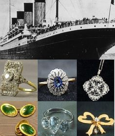 Titanic jewelry on public display, beautiful jewelry collection, recovery mission, diamond, sapphire rings, brooches, necklaces, cuff links gold watch