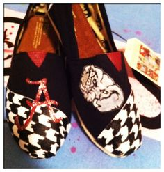 Alabama/ custom toms shoes by jcgray1 on Etsy, $115.00