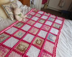 Crochet cover up, crochet granny square blanket, made with love, housewarming gift, bed warmers, hand crocheted items, grandma gift