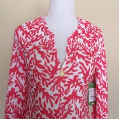 Lilly Pulitzer Valetta Dress Island Coral XS 2015 Lilly cover-up/dress. Brand new with tag. Lilly Pulitzer Dresses