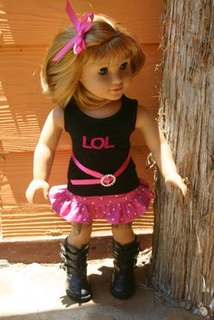 LOL 4 piece outfit to fit your 18 inch by MiniMeDollyDivas on Etsy, $25.00