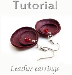 Tutorial Leather earrings  PDF by katrinshine on Etsy