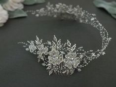 """88 Likes, 17 Comments - Arta Kiršteine (@allasille_jewels) on Instagram: """"Inspired by nature. Handmade bridal silver tone head piece ❤ Made of Toho glass beads, Swarovski…"""""""