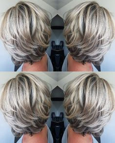 Love the color and cut new cabello reflejos, canas cabello, cabello platina Hair Styles 2016, Medium Hair Styles, Curly Hair Styles, Short Hair With Layers, Short Hair Cuts, Short Gray Hair, Short Hair Over 50, Hair Cuts For Over 50, Short Pixie
