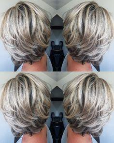Love the color and cut new cabello reflejos, canas cabello, cabello platina Hair Styles 2016, Medium Hair Styles, Short Hair Styles, Grey Hair Styles, Short Hair With Layers, Short Hair Cuts, Medium Layered Hair, Short Pixie, Hair Color And Cut