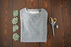 Turn your gnarly sweatshirt into a glam DIY statement piece! Photos by Sara Haile.