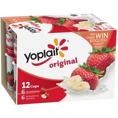Yoplait® Original Strawberry/Strawberry Banana Low Fat Yogurt Variety Pack 12-6 oz. Cups