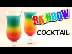 Rainbow Cocktail mit & ohne Alkohol möglich | Rainbow Drink | Regenbogen Cocktail - YouTube
