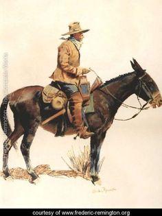 Army Packer - Frederic Remington - www.frederic-remington.org