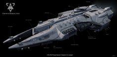 Zobacz, jakie 18 pomysłów jest teraz na czasie na . Space Ship Concept Art, Concept Ships, Spaceship Art, Spaceship Design, Starship Concept, Space Engineers, Sci Fi Spaceships, Heavy Cruiser, Capital Ship