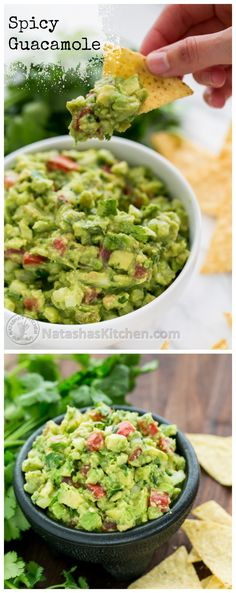 Spicy Guacamole Recipe ~ Kick your celebration up a notch with this delicious spicy guacamole.